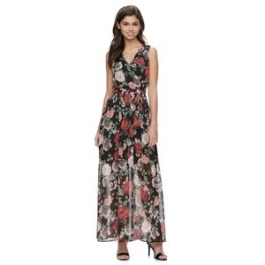 Disney beauty and the beast maxi dress floral prin